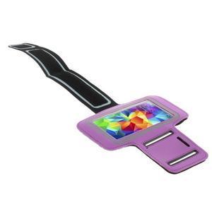 Run běžecké pouzdro na mobil do velikosti 131 x 65 mm - fialové - 3