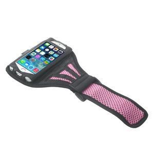 Absorb sportovní pouzdro na telefon do velikosti 125 x 60 mm - růžové - 3