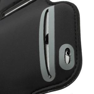 Černé pouzdro na ruku do velikosti mobilu 125 x 61 mm - 3
