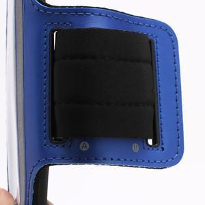 Sportovní pouzdro na ruku až do velikosti mobilu 140 x 70 mm - modré - 3