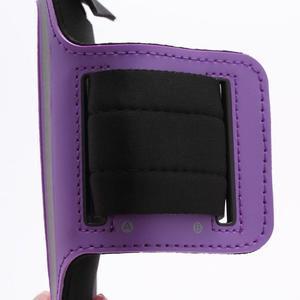 Sportovní pouzdro na ruku až do velikosti mobilu 140 x 70 mm - fialové - 3