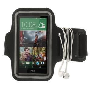 Černé Sports Gym pouzdo na ruku pro velikost mobilu až 150 x 70 mm - 3