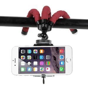 Trojnožkový stativ pro mobilní telefony - červený - 3