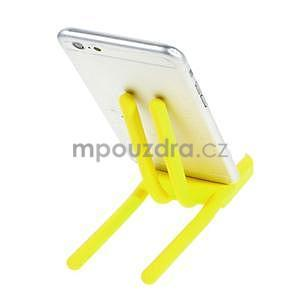 Tvarovatelný stojánek na mobil, žlutý - 3