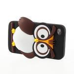 Silikonové pouzdro na iPod Touch 4 - hnědá sova - 3/5