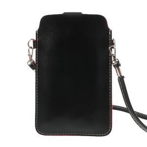 Univerzální pouzdro/kapsička na mobil do rozměru 180 x 110 mm - černé - 3