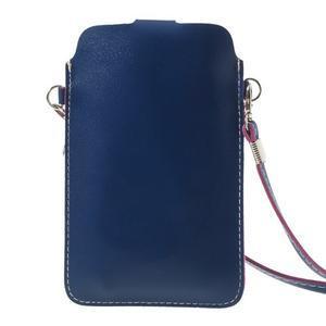 Univerzální pouzdro/kapsička na mobil do rozměru 180 x 110 mm - modré - 3