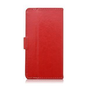 Univerzální peněženkové pouzdro do 159 x 79 mm - červené - 3