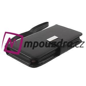 Luxusní univerzální pouzdro pro telefony do 140 x 70 x 12 mm - černé - 3