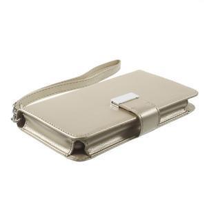 Luxusní univerzální pouzdro pro telefony do 140 x 70 x 12 mm - zlaté - 3