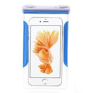 Nox7 vodotěsný obal na mobil do rozměru 16.5 x 9.5 cm - modrý - 3
