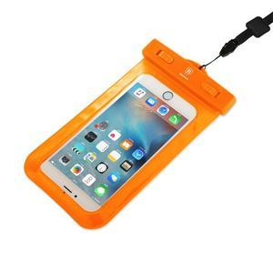 Base IPX8 vodotěsný obal na mobil do 158 x 78 mm - oranžový - 3