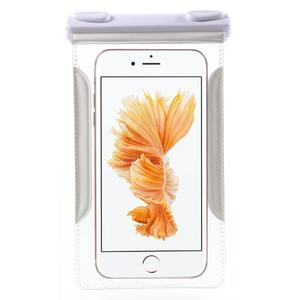 Nox7 vodotěsný obal na mobil do rozměru 16.5 x 9.5 cm - bílý - 3