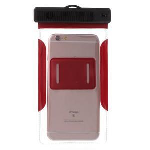 Nox7 vodotěsný obal na mobil do rozměru 16.5 x 9.5 cm - červený - 3