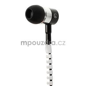 Dvoubarevná zipová sluchátka do uší - 3