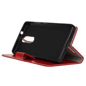 Horse PU kožené pouzdro na mobil Lenovo K5 Note - červené - 4