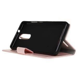 Horse PU kožené pouzdro na mobil Lenovo K5 Note - růžové - 4