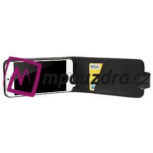 PU kožené flipové pouzdro na iPhone 6, 4.7 - černé - 4