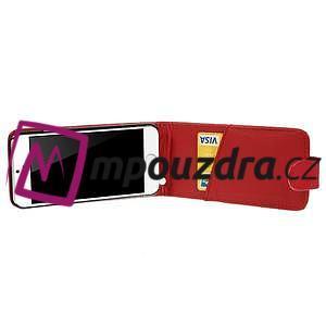 PU kožené flipové pouzdro na iPhone 6, 4.7 - červené - 4