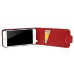 PU kožené flipové pouzdro na iPhone 6, 4.7 - červené - 4/7