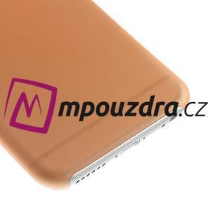 Ultra slim 0.3 mm plastové pouzdro na iPhone 6, 4.7  - oranžové - 4