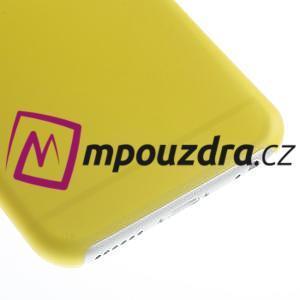 Ultra slim 0.3 mm plastové pouzdro na iPhone 6, 4.7  - žluté - 4