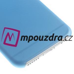 Ultra slim 0.3 mm plastové pouzdro na iPhone 6, 4.7  - modré - 4