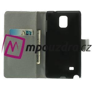 Peněženkové pouzdro na Samsung Galaxy Note 4- fialový květ - 4