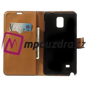 Peněženkové PU kožené pouzdro na Samsung Galaxy Note 4- černé - 4