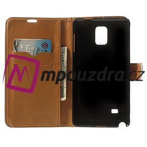 Peněženkové PU kožené pouzdro na Samsung Galaxy Note 4- bílé - 4