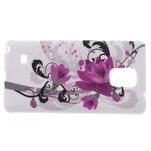 Gelové pouzdro na Samsung Galaxy Note 4- fialový květ - 4/5