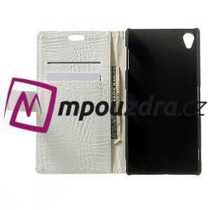 Peněženkové PU kožené pouzdro na Sony Xperia Z3 D6603 - bílé - 4
