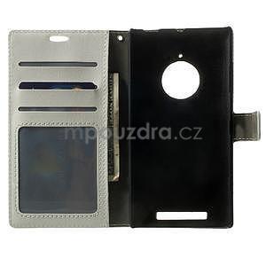 Peněženkové pouzdro na Nokia Lumia 830 - bílé - 4