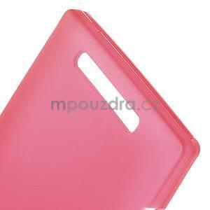 Gelové matné pouzdro na Nokia Lumia 830 - červené - 4