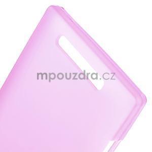 Gelové matné pouzdro na Nokia Lumia 830 - růžové - 4