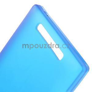 Gelové matné pouzdro na Nokia Lumia 830 - modré - 4