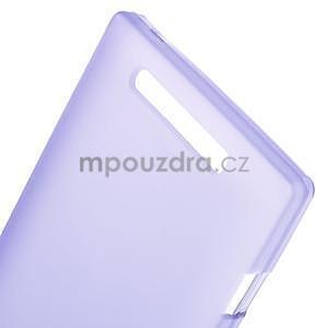Gelové matné pouzdro na Nokia Lumia 830 - fialové - 4