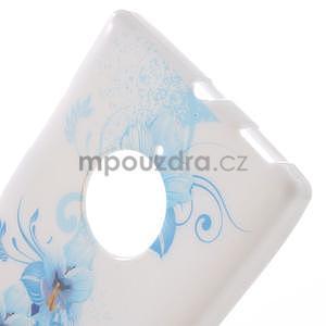 Gelové pouzdro na Nokia Lumia 830 - modrá lilie - 4
