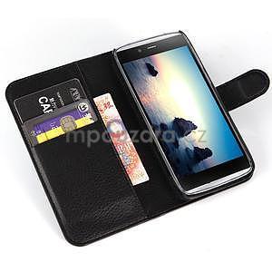 Peněženkové pouzdro na Alcatel One Touch Idol Alpha 6032 A - černé - 4