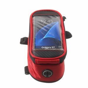 Brašna na kolo s úložným prostorem pro mobily do rozměru 138,3 x 67,1 × 7,1 mm - červená - 4