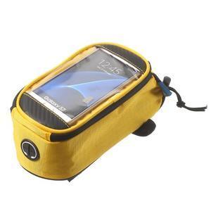 Brašna na kolo s úložným prostorem pro mobily do rozměru 138,3 x 67,1 × 7,1 mm - žlutá - 4