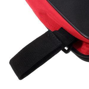 Brašna na kolo s troj upevněním 27 x 14 x 6 cm - červená/černá - 4