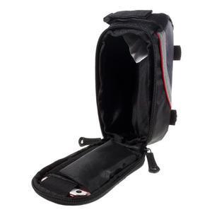 Prostorná brašnička na kolo na mobil do rozměru 124 x 59 x 7,6 mm - červený lem - 4