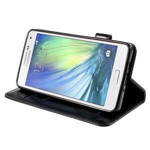 Kočička Domi PU kožené pouzdro na Samsung Galaxy A5 - černé - 4