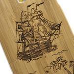 Dřevené pouzdro rozepínací na Samsung Galaxy S4 - loď - 4/7
