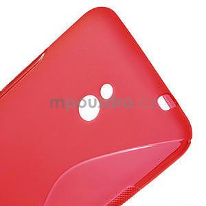 Gelové S-line pouzdro pro Nokia Lumia 1320- červené - 4