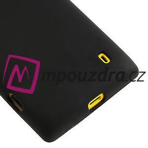 Gelové matné pouzdro na Nokia Lumia 520 - černé - 4