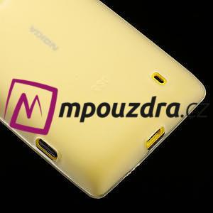 Gelové matné pouzdro na Nokia Lumia 520 - bílé - 4