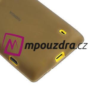 Gelové matné pouzdro na Nokia Lumia 520 - šedé - 4
