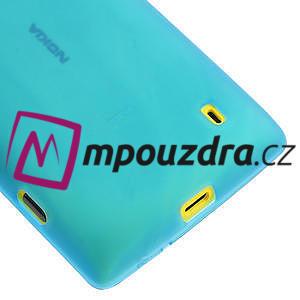 Gelové matné pouzdro na Nokia Lumia 520 - světlemodré - 4